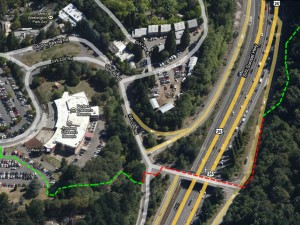 4T trail coming down from Council Crest crossing US 26 map to Zoo